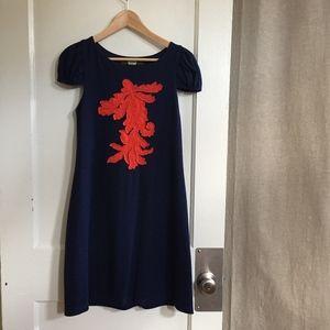 Eva Franco Navy Applique Dress